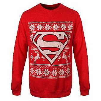 Unisex Red DC Comics Superman Christmas Jumper