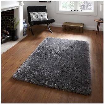 Rugs - Monte Carlo Shaggy Rugs In Silver