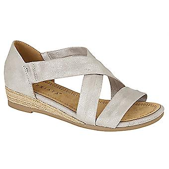 Ladies Womens Sandals Wedge Stretchy Heel-In Bar Crossover Espadrilles Shoes