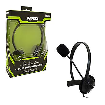 Xbox 360 Chat Headset Black Small KMD - Xbox360