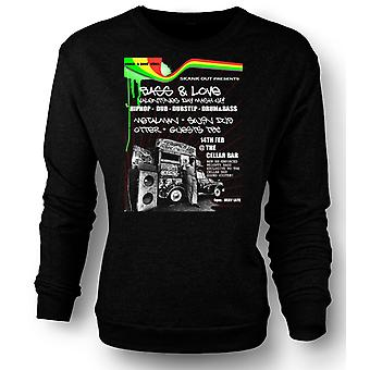 Womens Sweatshirt Bass & Love - Hip Hop - Dub
