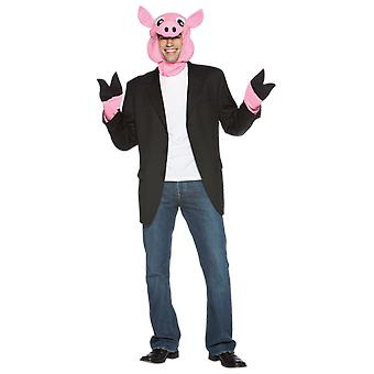 Adult Pig Head & Trotters Farm Animal Novelty Fancy Dress Costume Accessory
