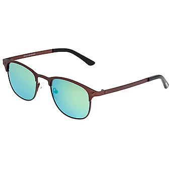 Breed Phase Titanium Polarized Sunglasses - Brown/Green-Blue