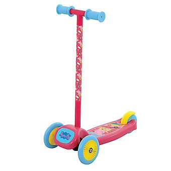 Peppa Pig Tilt 'n' Turn Scooter MV Sports Ages 3 Years+ Pink