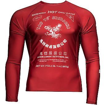 Dokebi Sriracha Long Sleeve MMA Rashguard - Red