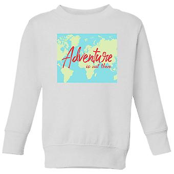 Adventure Is Out There Kids-apos; Sweatshirt - Blanc