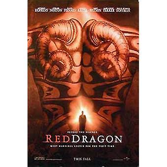 Red Dragon (yksipuolinen Advance UV päällystetty) alkuperäinen elokuva juliste