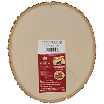 Basswood Country Round Plaque 11