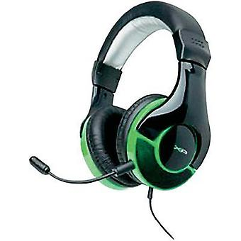 Gaming headset 2.5 mm jack Corded, Stereo G-Star HS-343XP Over-the-ear Black, Green