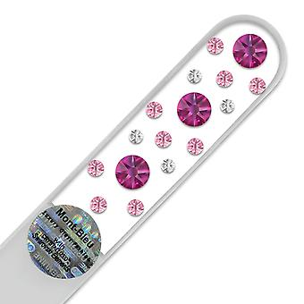 Glass nail file with Swarovski crystals CN-M1-6