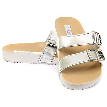 Grendha Brasil Essence Slide Silver Womens Sandals