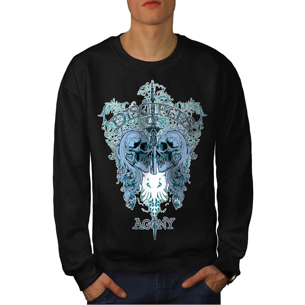 Disciple Of Agony Vintage Men Black Sweatshirt | Wellcoda