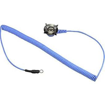 ESD earth cable for mats 1.83 m Conrad Components 4 mm eyelet