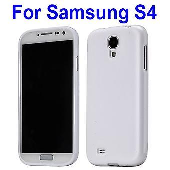 Lisa huva, TPU gummi, för Samsung Galaxy S4 i9500-(vit)