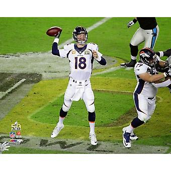 Peyton Manning Bowl Super 50 Photo Print