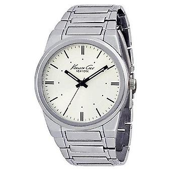 Kenneth Cole New York Round with Silver Link Strap Men's watch #KCW3007