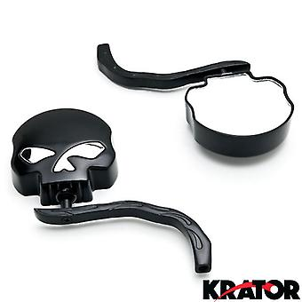 Custom Rear View Mirrors Black Pair w/Adapters For Kawasaki Concours Voyager ZG 1000 1200