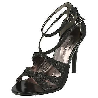 Ladies Anne Michelle High Heel Glitter Sandal
