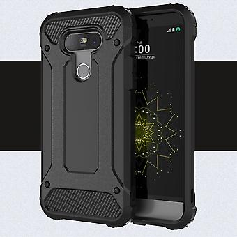 Cover in plastic armor and TPU for LG G5 (black)