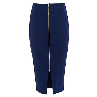Get The Look Front Zip Detail Skirt