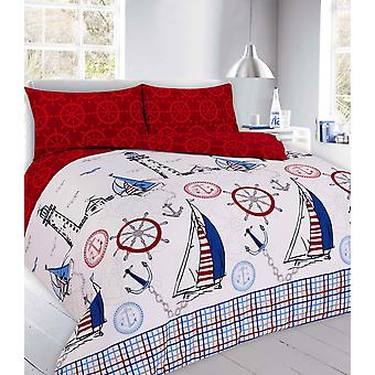 Jake Vintage gedruckt Quilt Bettbezug Bettwäsche Set