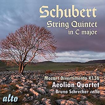 Aeolian Quartet Bruno Schrecker - Schubert: String Quintet in C Major; Moz [CD] USA import