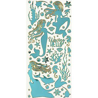 Dazzles Stickers-Mermaids-Mirror Teal DAZ-2590