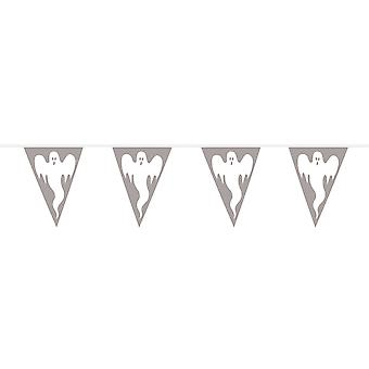 Pennant chain of 10 m little ghosts ghost Halloween decoration