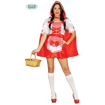 Little Red Riding Hood costume with hooded Cape women's costume one size