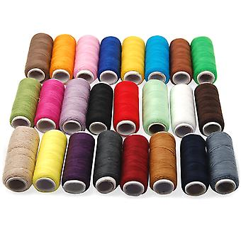TRIXES 24 Cotton Sewing Thread Assorted Colours Fine Premium Quality Cotton Reels