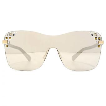 Jimmy Choo Mask Sunglasses In Rose Gold Grey