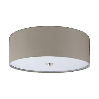 Eglo Pasteri 3 Light Ceiling Light Taupe