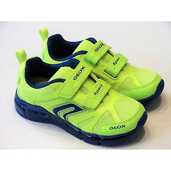 Geox Geox J Android Boys Lime Flashing Trainers