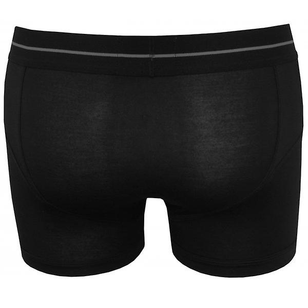 James Tudor Button Fly Boxer Trunk, Black