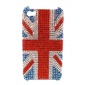 W.A.T Sparkling Crystal Union Jack IPhone 4 Phone Cover