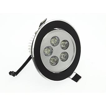 I LumoS High Quality Epistar 5 Watts Black Circle Aluminium Warm White LED Tiltable Recessed Spot Down light