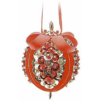 Pinflair 4 Red & Gold Sweet Noel Baubles Sequin & Pin Christmas Craft Kit