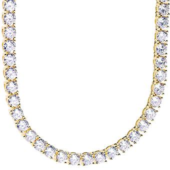 Sterling 925 Silver CZ bling ICED OUT chain, 5mm - 90cm