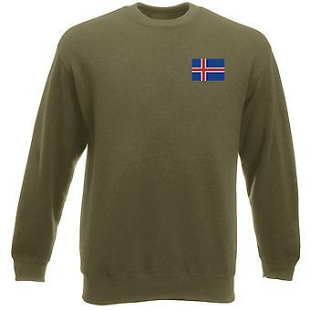 Vlag van IJsland geborduurd Logo - Heavyweight Sweatshirt