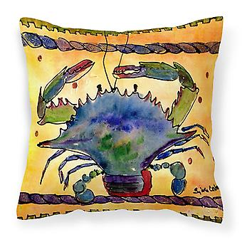 Carolines Treasures  8056PW1414 Crab Decorative   Canvas Fabric Pillow