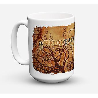 Un Spook taculaire Journée Halloween lave-vaisselle sûre pour micro-ondes céramique Mug à café 15