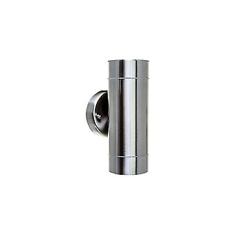 Timeguard Stainless Steel Cylinder Outdoor IP65 Up And Down Wall Light