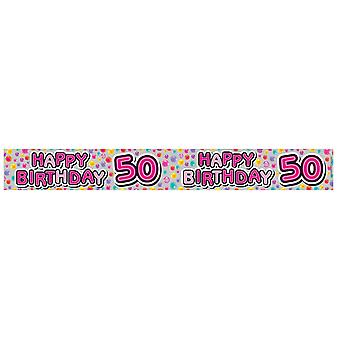 Expression Factory Womens/Ladies Happy 50th Birthday Foil Party Banner
