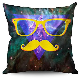 Space Mustache Linen Cushion Space Mustache | Wellcoda