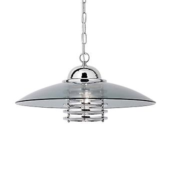 Searchlight 1300CC Coolie Polished Chrome 1 Light Ceiling Pendant