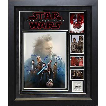 Star Wars The Last Jedi - Cast Signed Movie Photo - Framed Artist Series