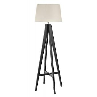 Tripod Brown Floor Lamp With Fabric Shade - Searchlight 3540br