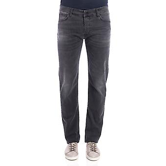 Roy Roger's men's 529DELUXETAGESBLACK grey cotton of jeans