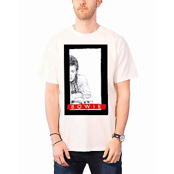 David Bowie T Shirt profile Aladdin Sane new Official Mens White