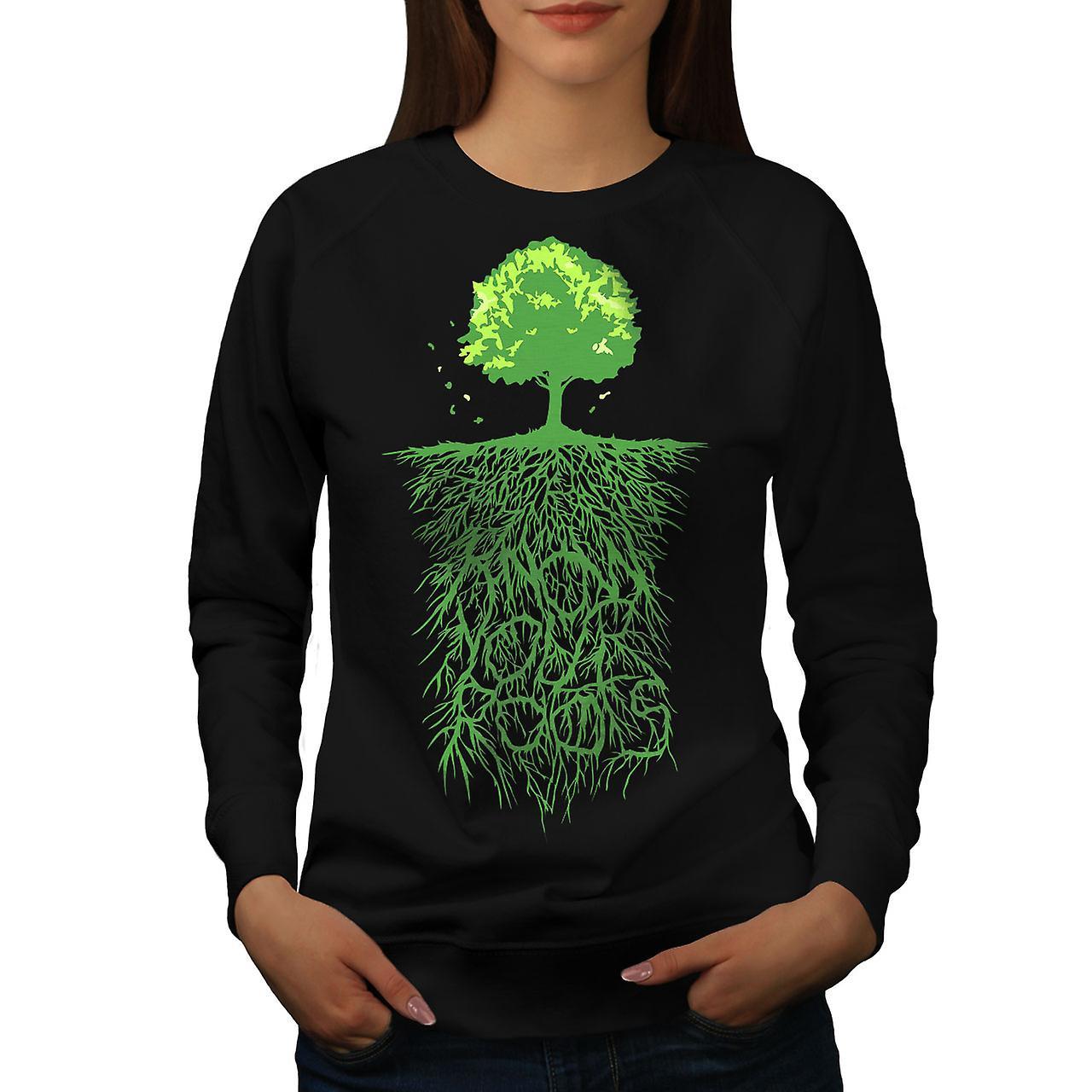 Terre arbre racines Nature femmes noirSweatshirt